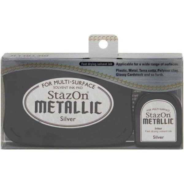Stempelkissen StazOn Metallic Silber