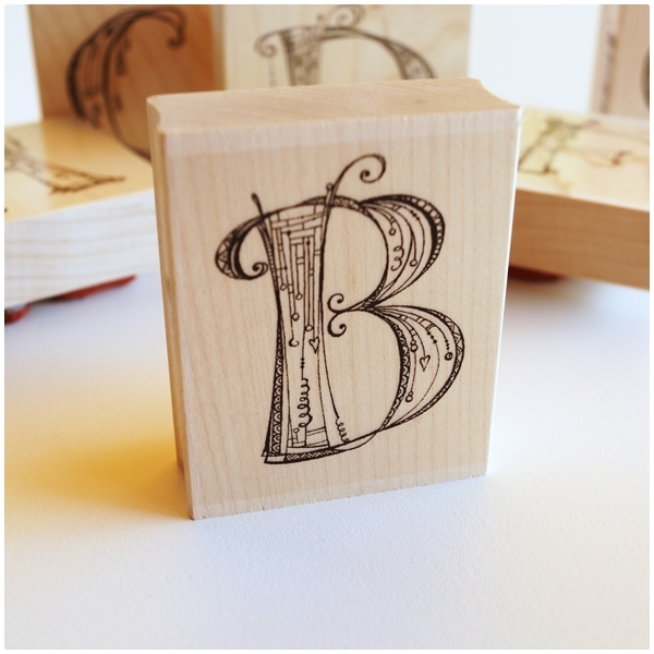 Zenspirations Holzstempel - Buchstabe B