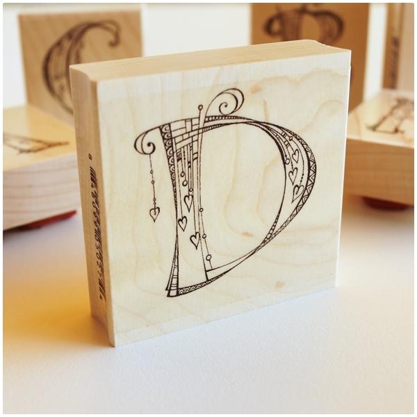 Zenspirations Holzstempel - Buchstabe D