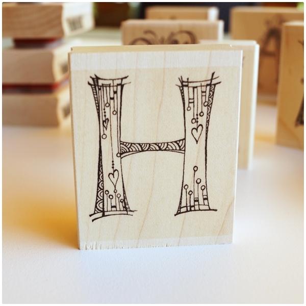 Zenspirations Holzstempel - Buchstabe H