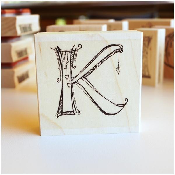 Zenspirations Holzstempel - Buchstabe K