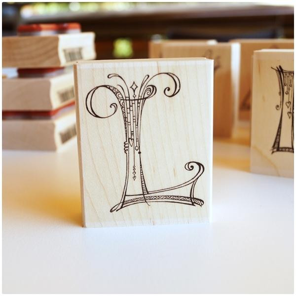 Zenspirations Holzstempel - Buchstabe L