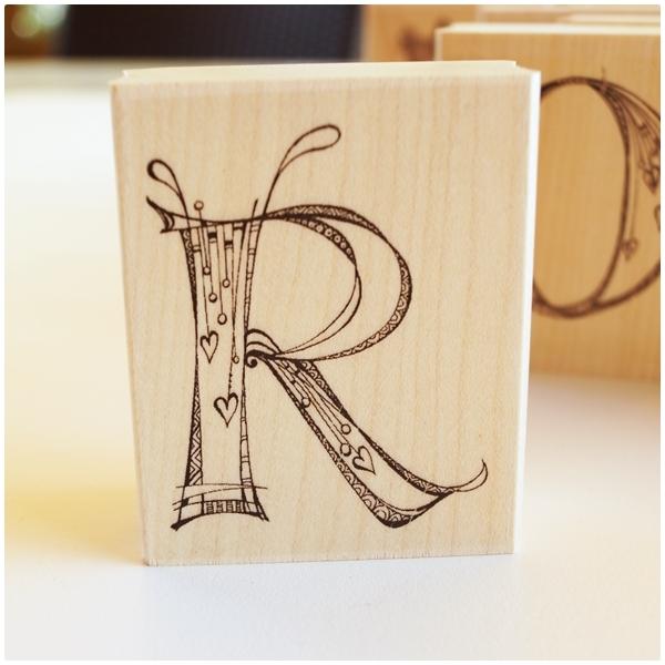 Zenspirations Holzstempel - Buchstabe R