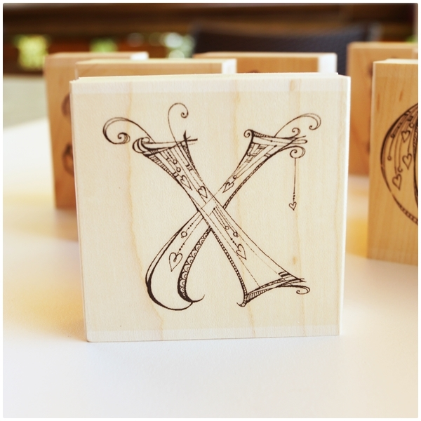 Zenspirations Holzstempel - Buchstabe X