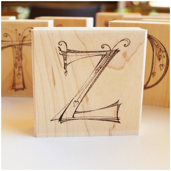 Zenspirations Holzstempel - Buchstabe Z