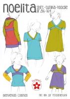 Noelita Shirt Tunika Hoodie Farbenmix Schnittmuster