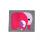 Webetikette mit Elefanten Grau/Pink 50x48 mm gross