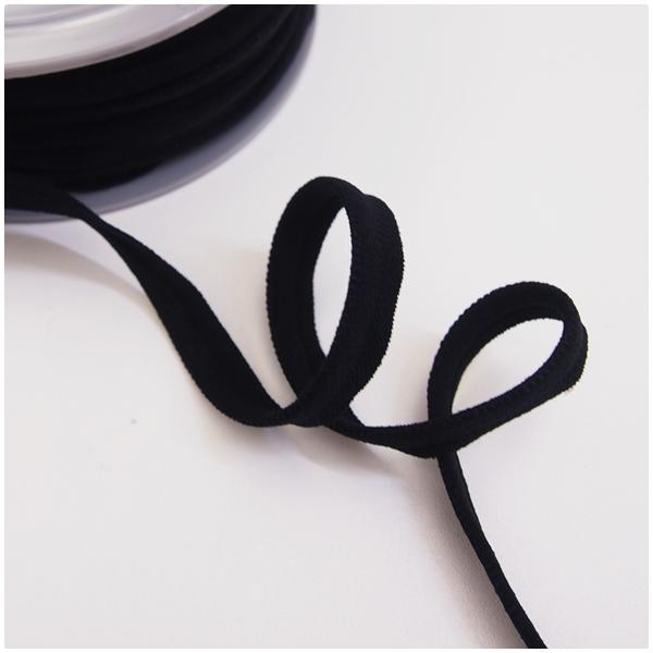 breite elastische Paspel, schwarz