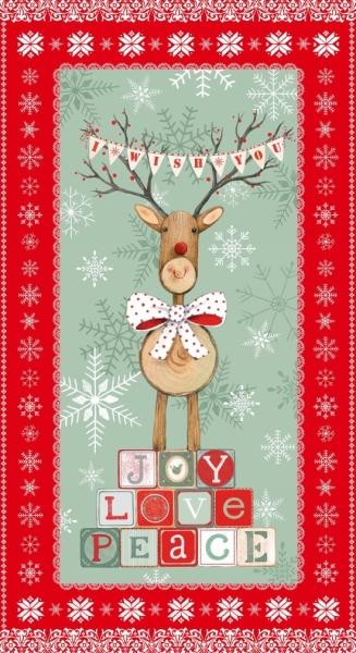 Baumwolle Joy Love Peace 60x110 cm Panel Rest