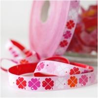 Farbenmix Webband byGraziela Glücksklee rosa