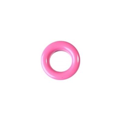 20 Stk. Oesen und Scheiben, 8mm, pink