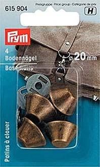 Prym Bodennägel/Taschenfüsse, almessing, 20mm