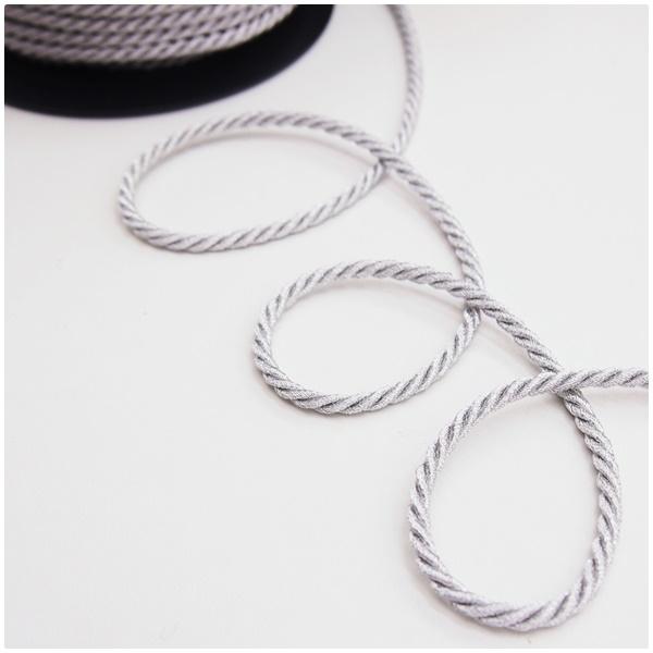 Lurex Kordel 4mm gedreht silber