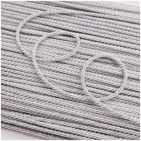 Lurex Kordel 2mm gedreht silber