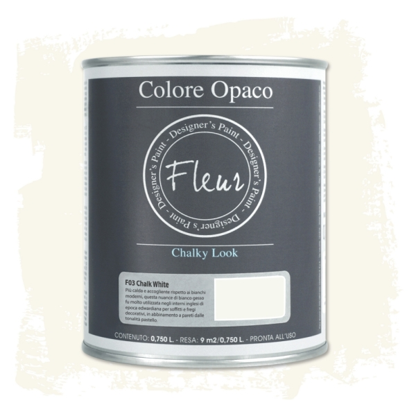 To-Do Fleur Chalky Look Paint Chalk White 750ml