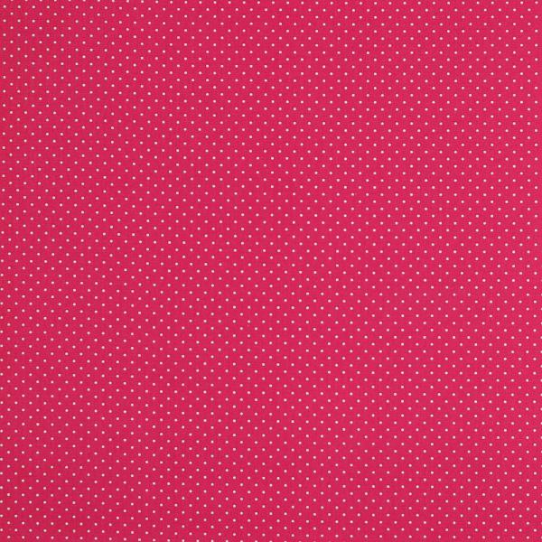 Baumwollpopeline Minipunkte pink