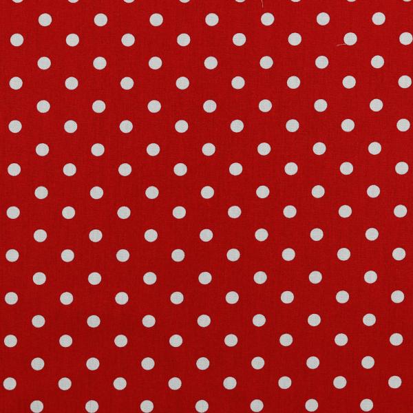 Baumwollpopeline Maxipunkte rot