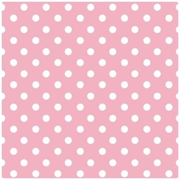 Baumwollpopeline Maxipunkte rosa