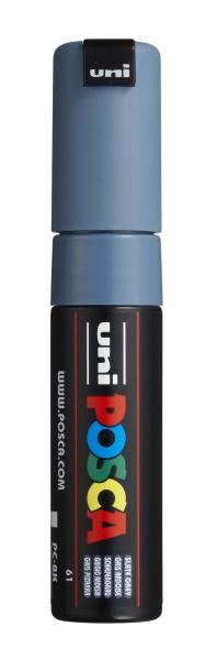 PC8K Posca Marker 8 mm schiefergrau