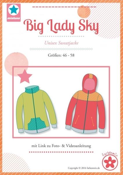 Big Lady Sky Sweatjacke Farbenmix Schnittmuster