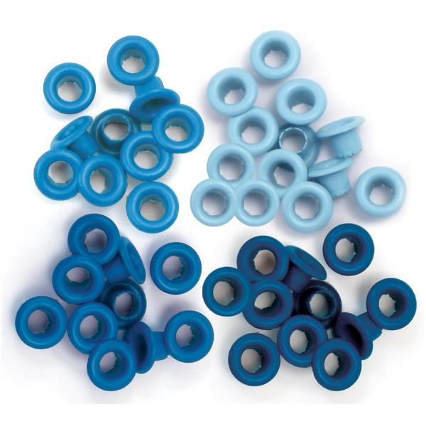 Zieroesen Eyelets klein 5mm blau