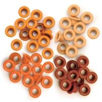 Zieroesen Eyelets klein 5mm orange