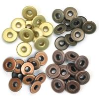Zieroesen Eyelets gross 5mm warm metal