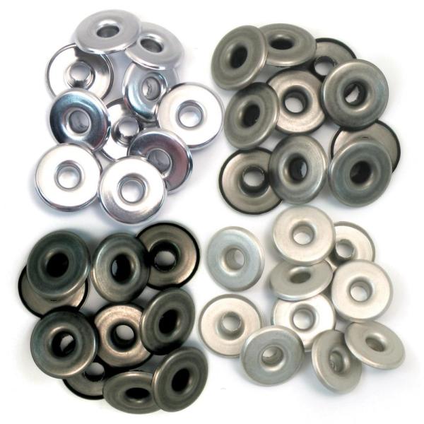 Zieroesen Eyelets gross 5mm kalt metal