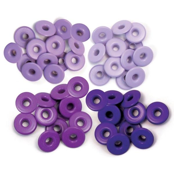 Zieroesen Eyelets gross 5mm lila
