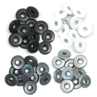 Zieroesen Eyelets gross 5mm grau