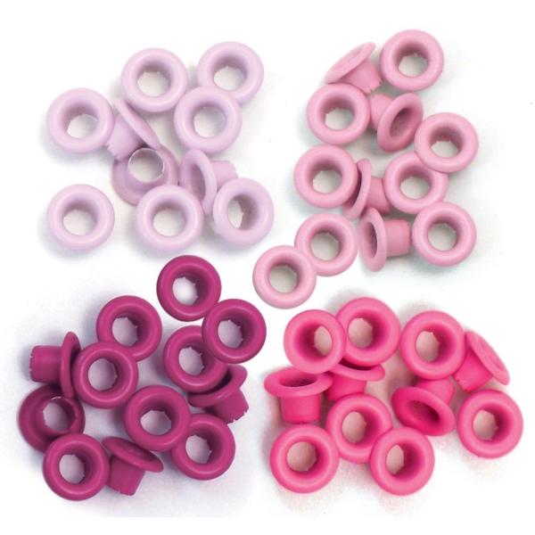 Zieroesen Eyelets klein 5mm rosa pink