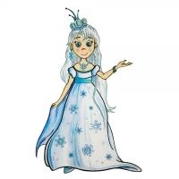 Safuri Bügelbild Eiskönigin