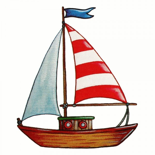 Safuri Bügelbild Segelboot