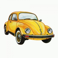 Safuri Bügelbild Käfer Auto