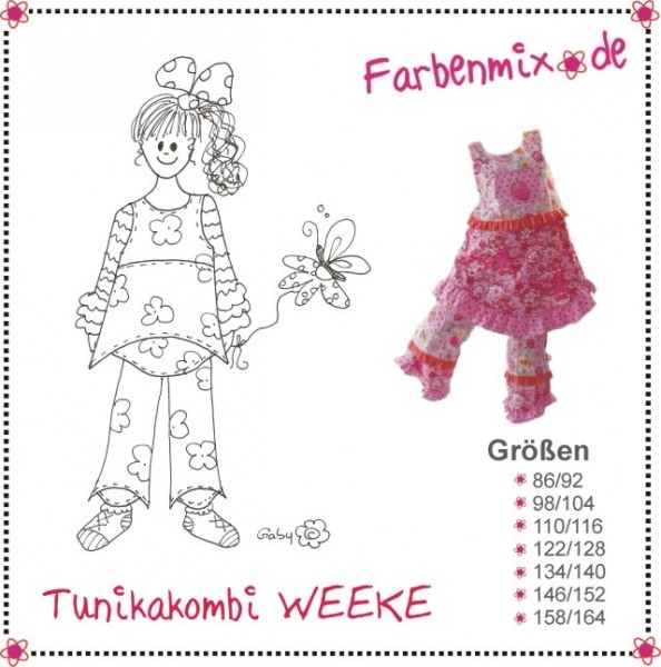 WEEKE Tunika Kombi Farbenmix Schnittmuster
