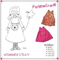 LILLY Wickelkleid Farbenmix Schnittmuster