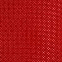 Baumwollpopeline Minipunkte rot