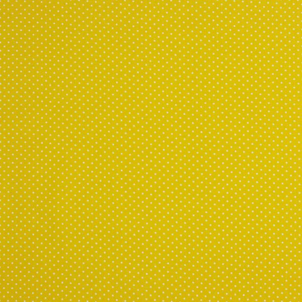 Baumwollpopeline Minipunkte gelb