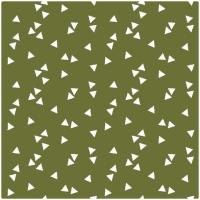 Baumwollpopeline Triangles olive