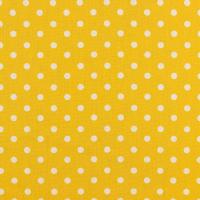 Baumwollpopeline Maxipunkte gelb