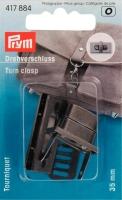 Prym Drehverschluss, 35mm, altsilber gebürstet