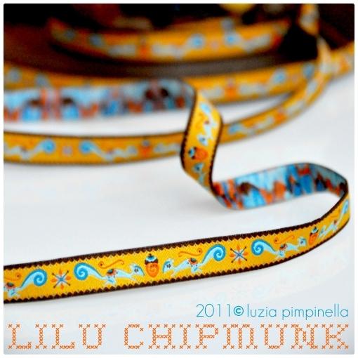Farbenmix Webband Lilu Chipmunk