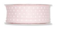 Druckband Punkte 32mm rosa