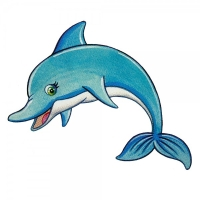 Safuri Bügelbild Delphin
