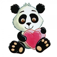 Safuri Bügelbild Panda Bär