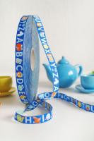 Farbenmix Webband byGraziela ABC blau