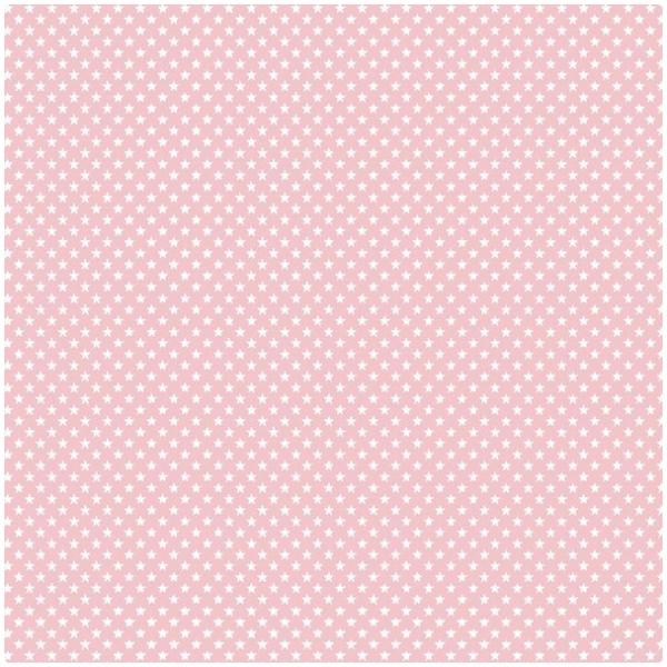 Baumwollpopeline Mikrosterne rosa