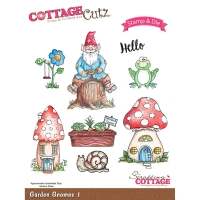 Stamp & Die Set Garden Gnomes 1