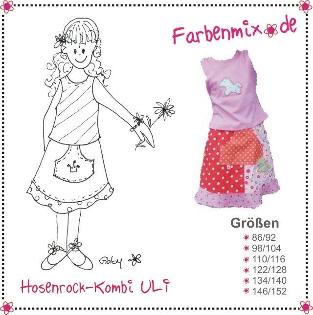 Mutter Tochter Rock Schnittmuster Farbenmix kaufen bei Zwergenstoffe ...