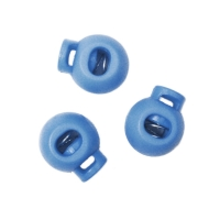 Kordelstopper 20mm rund hellblau